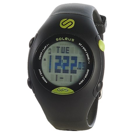 Soleus GPS Mini Digital Running Watch - Plastic Strap (For Men and Women)