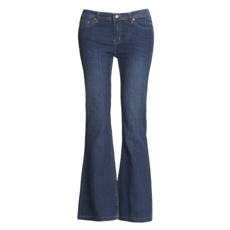 Washed Stretch Denim Jeans - 5-Pocket (For Women)