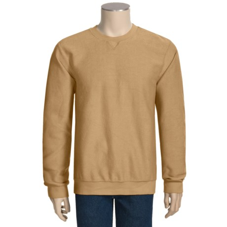 French Terry Knit Shirt - Long Sleeve (For Men)