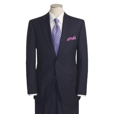 Jack Victor Beaded Stripe Suit - Wool (For Men)