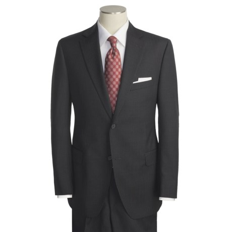 Jack Victor Beaded Alternating Stripe Suit - Wool (For Men)