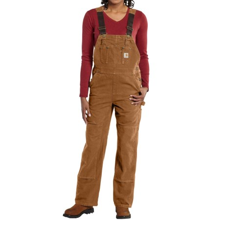 Carhartt Sandstone Bib Overalls - Unlined, Factory Seconds (For Women)