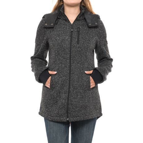 HFX Fleece-Lined Sweater - Zip-Off Hood (For Women)