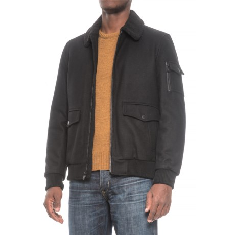 HFX Halifax Traders Sherpa Collar Bomber Jacket - Wool, Insulated (For Men)
