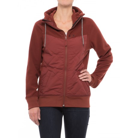 Oakley Bronc Full-Zip Fleece Hoodie - Insulated Front (For Women)