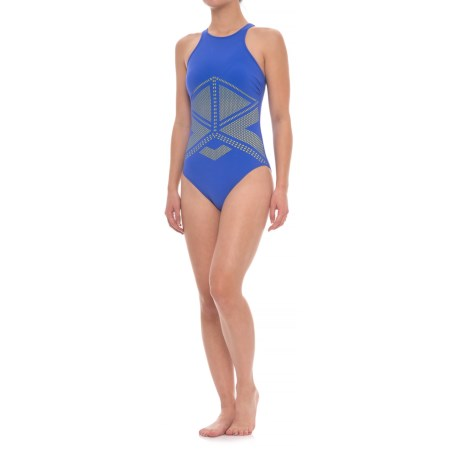 Profile Sports by Gottex Laser-Cut One-Piece Swimsuit - UPF 50+, Built-In Bra (For Women)
