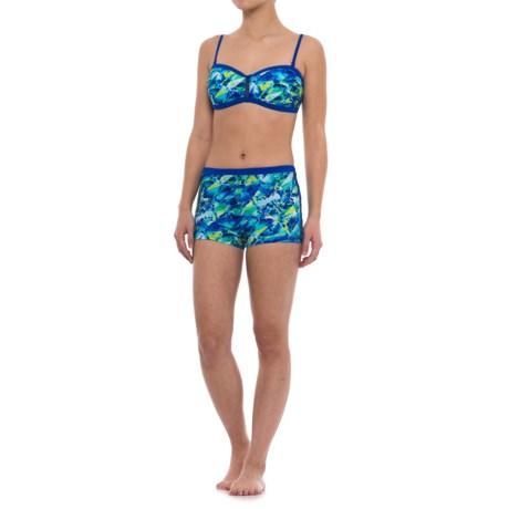 Profile Sports by Gottex Pacific Bandeau Bikini Set - Swim Shorts (For Women)