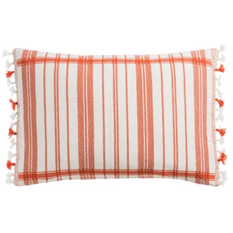 "Devi Designs Tigerlily Decor Pillow with Tassels - 14x20"", Cotton"