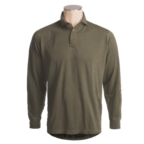 Tailor Vintage Hand-Dyed Polo Shirt - Single-Jersey Knit, Long Sleeve (For Men)