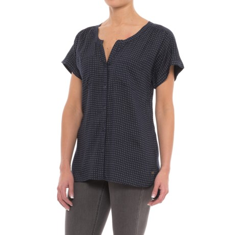 Specially made Woven Two-Pocket Blouse - Short Sleeve (For Women)