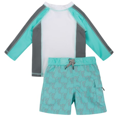 Cabana Life Rash Guard and Boardshorts Set - UPF 50+, Long Sleeve (For Toddler Boys)