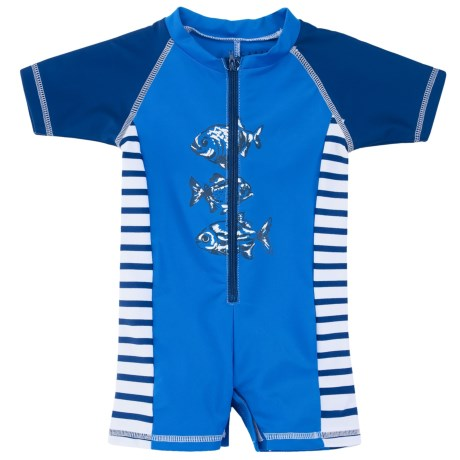 Cabana Life One-Piece Rash Guard - UPF 50+, Short Sleeve (For Infants)