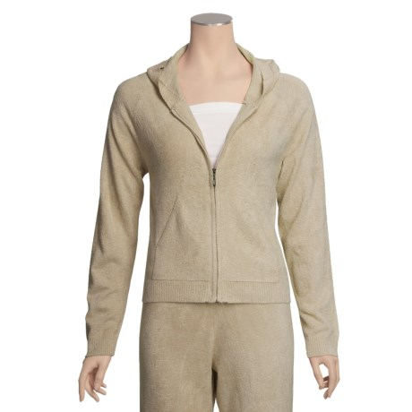 SoyBu Playwear Cardigan Hoodie Sweatshirt - Front Zip (For Women)