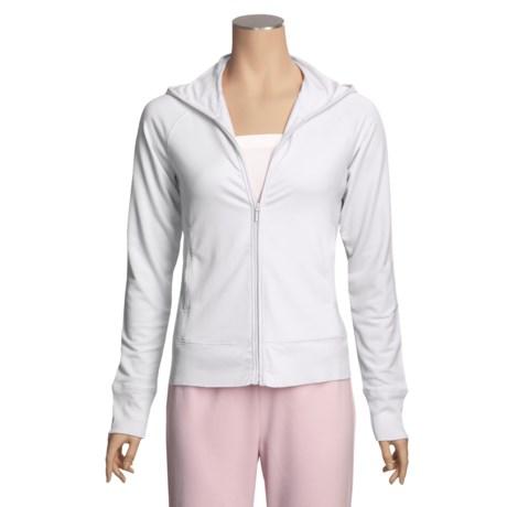 SoyBu Micro Terry Zip Hoodie Sweatshirt (For Women)