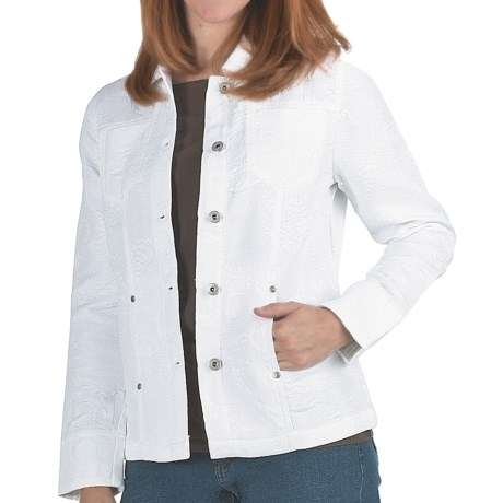 FDJ French Dressing Textured Cotton Jacket (For Women)
