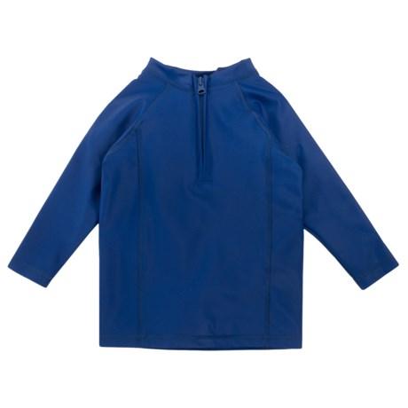 Cabana Life Rash Guard - UPF 50+, Zip Neck, Long Sleeve (For Toddlers)