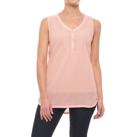 Specially made Woven Cotton Shirt - Sleeveless (For Women)