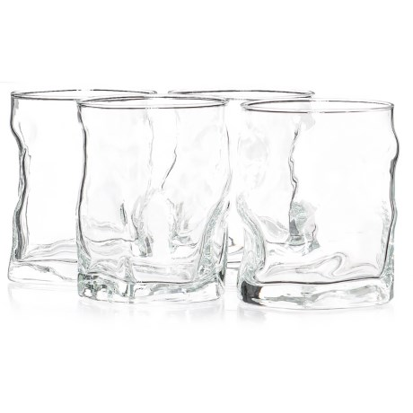 Bormioli Rocco Sorgente Double Old-Fashioned Glasses - 14 fl.oz., Set of 4