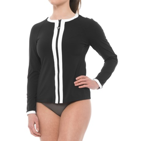 Seafolly Block Party Rash Guard - UPF 50+, Long Sleeve (For Women)