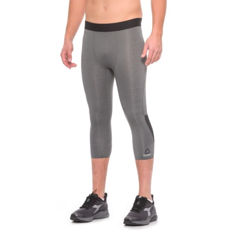 Reebok Solid 3/4 Tights (For Men)