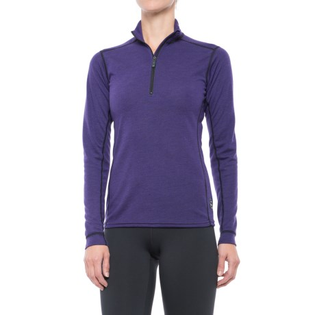 Polarmax Micro H2 Zip Mock Neck Shirt - Long Sleeve (For Women)