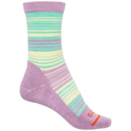 FITS Casual Striped Socks - Merino Wool, Crew (For Women)