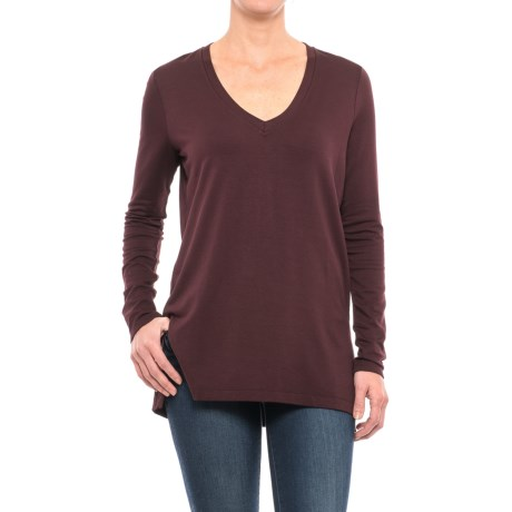Specially made V-Neck Knit Shirt - Long Sleeve (For Women)