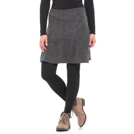 A-Line Knit Skirt - Elastic Waist (For Women)