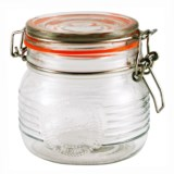 Grant Howard Old-Fashioned Embossed Glass Jar - 16.9 oz.