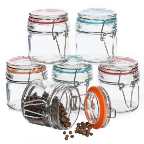Grant Howard Round Spice Jars with Sealing Lids - 6-Piece, 3.5 oz.