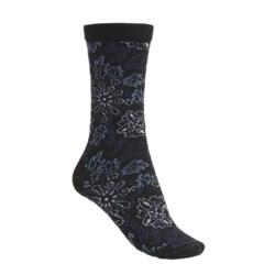 Goodhew Broken Floral Socks - Merino Wool (For Women)