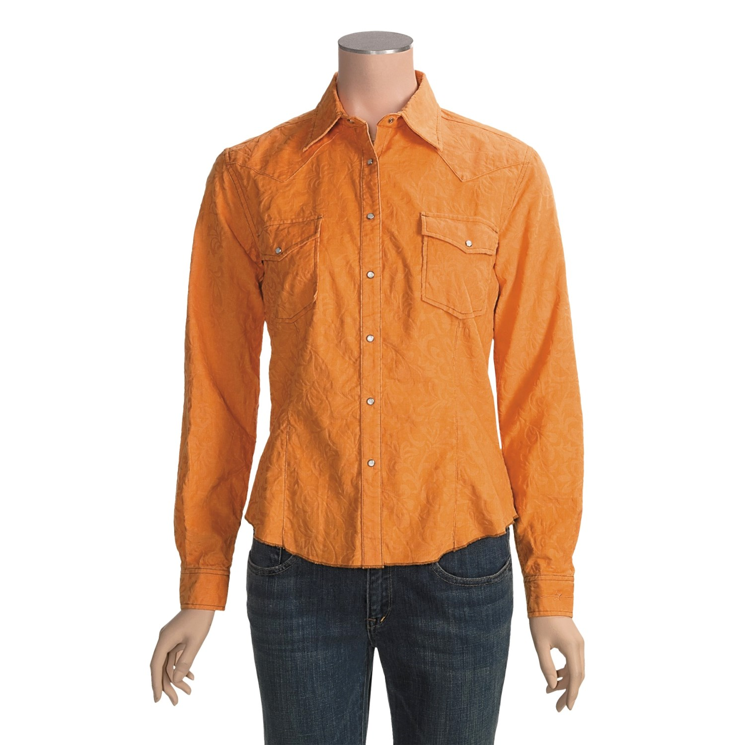 ryan michael western corduroy shirt for women 3162r