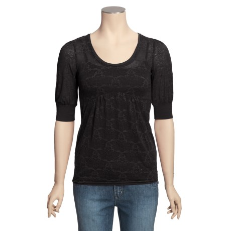 Buffalo Burnout Babydoll Shirt - Elbow Sleeve (For Women)