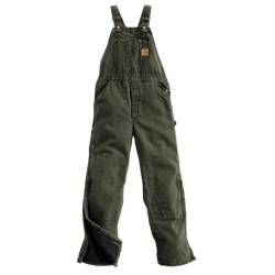 Carhartt Sandstone Bib Overalls - Long, Quilt Lined, Insulated (For Men)