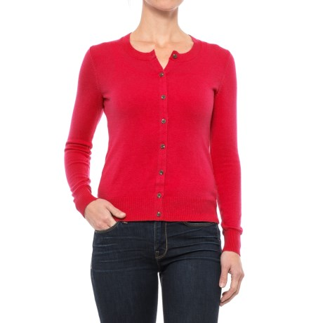 Specially made Crew Neck Cardigan Sweater (For Women)