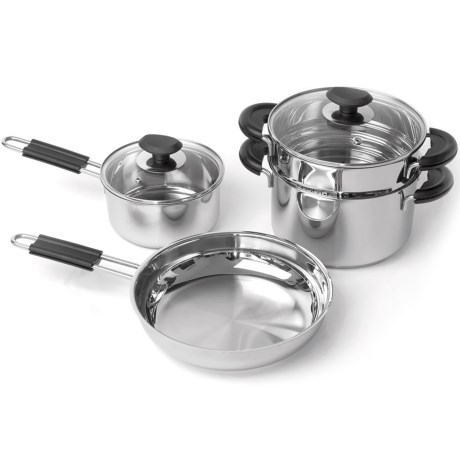 BergHOFF Kasta Stainless Steel Cookware Set - 6-Piece
