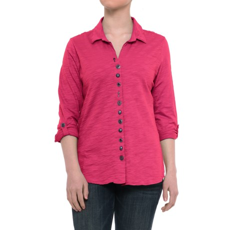 Neon Buddha Eastwood Shirt - Roll-Up Long Sleeve (For Women)