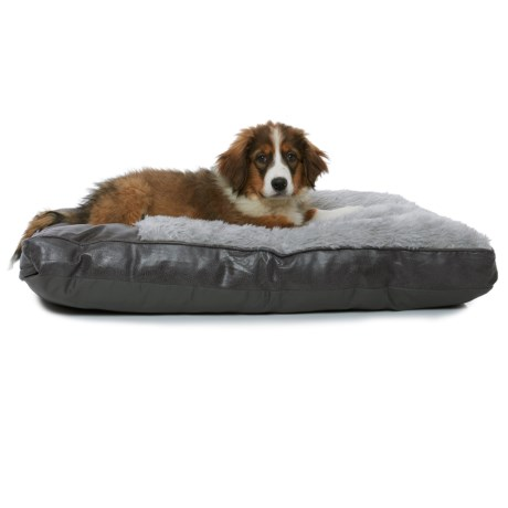 """Happy Tails Faux-Leather Gusset Dog Bed - 36x27"""""""
