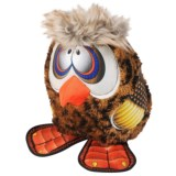 Happy Tails Loonies Zany Owl Dog Toy - Squeaker