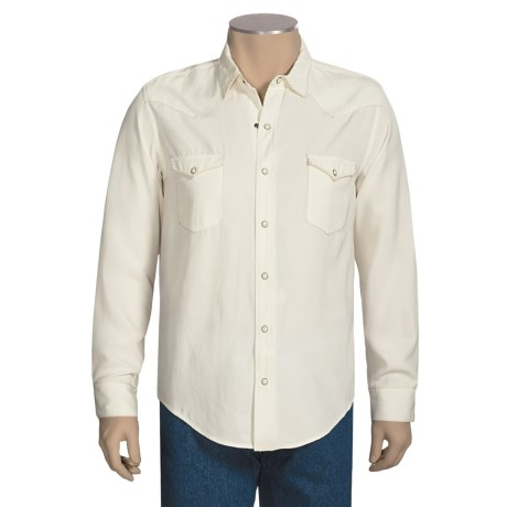 Panhandle Slim Silk-Blend Western Shirt - Snap Front, Long Sleeve (For Men)
