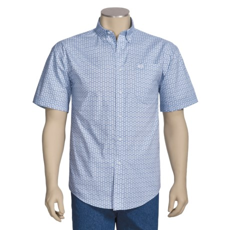 Panhandle Slim Cotton Poplin Print Shirt - Short Sleeve (For Men)