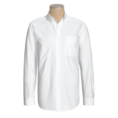 Panhandle Slim Solid Cotton Oxford Shirt - Long Sleeve (For Men)