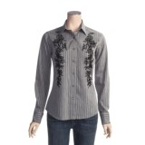 Brooks & Dunn by Panhandle Slim Satin Stripe Shirt - Cotton Satin, Long Sleeve (For Women)
