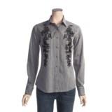 Panhandle Brooks & Dunn by  Slim Satin Stripe Shirt - Cotton Satin, Long Sleeve (For Women)