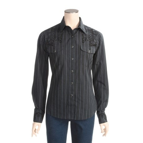 Brooks & Dunn by Panhandle Slim Stripe Pocket Shirt - Cotton, Long Sleeve (For Women)