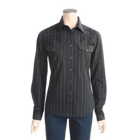 Panhandle Brooks & Dunn by  Slim Stripe Pocket Shirt - Cotton, Long Sleeve (For Women)