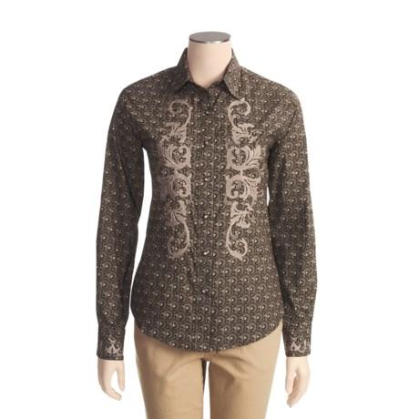 Brooks & Dunn by Panhandle Slim Foulard Print Shirt - Cotton, Long Sleeve (For Women)