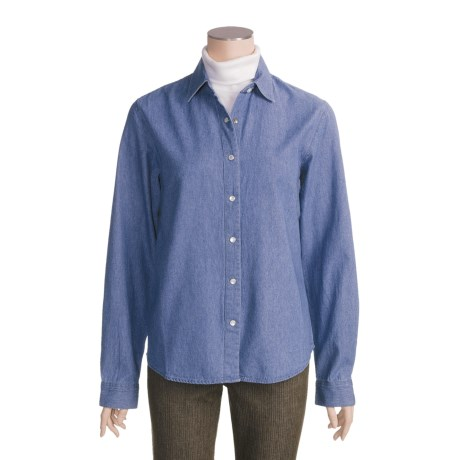 Panhandle Slim Denim Shirt - Cotton, Long Sleeve (For Women)