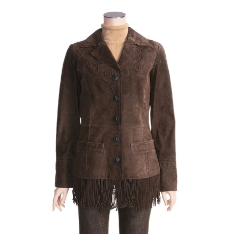 Powder River Monteray Leather Jacket - Fringed (For Women)