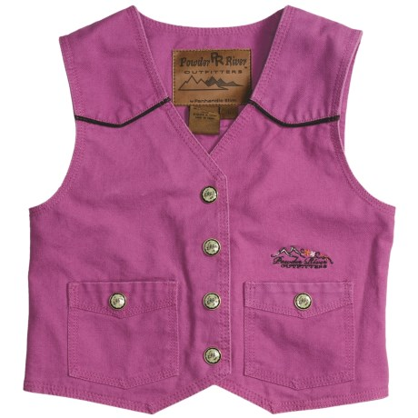 Powder River Outfitters Lil' Pony Vest - Embroidered (For Girls)